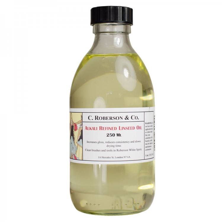Roberson : Alkali Refined Linseed Oil : 250ml