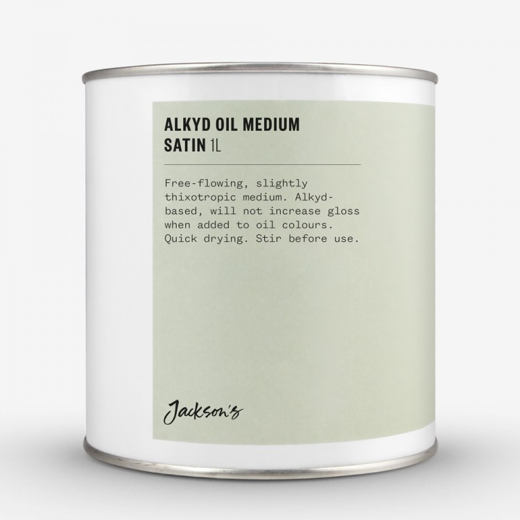 Jackson's : Alkyd Oil Medium : Fast-Drying To Thin Oil Paint : Satin : 1 Litre *Haz*