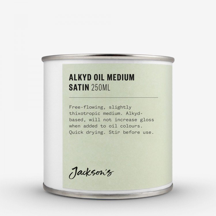 Jackson's : Alkyd Oil Medium : Fast-Drying To Thin Oil Paint : Satin : 250ml : By Road Parcel Only