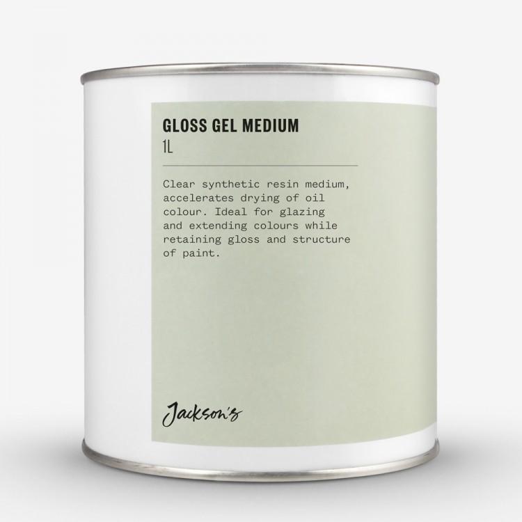 Jackson's : Gloss Gel Medium : 1 Litre Oil Colour Medium : By Road Parcel Only