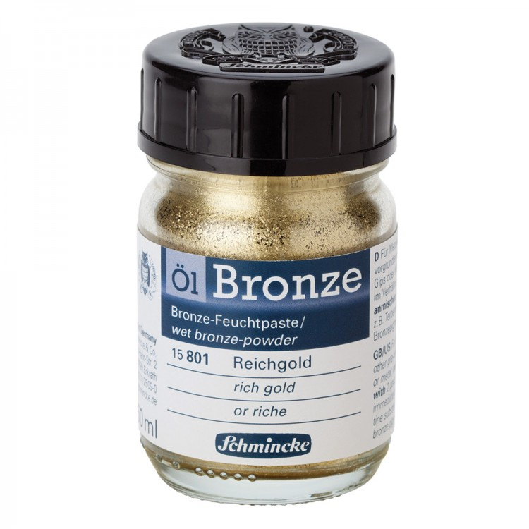 Schmincke : Oil Bronze Powder : 50ml : Rich Gold : By Road Parcel Only