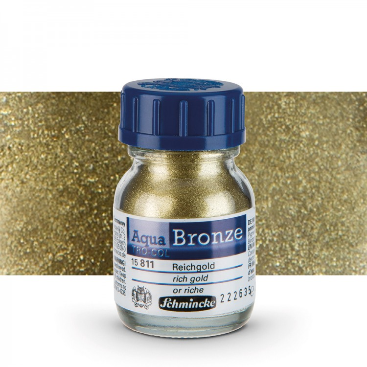 Schmincke : Aqua Bronze Powder : 20ml : Rich Gold : By Road Parcel Only