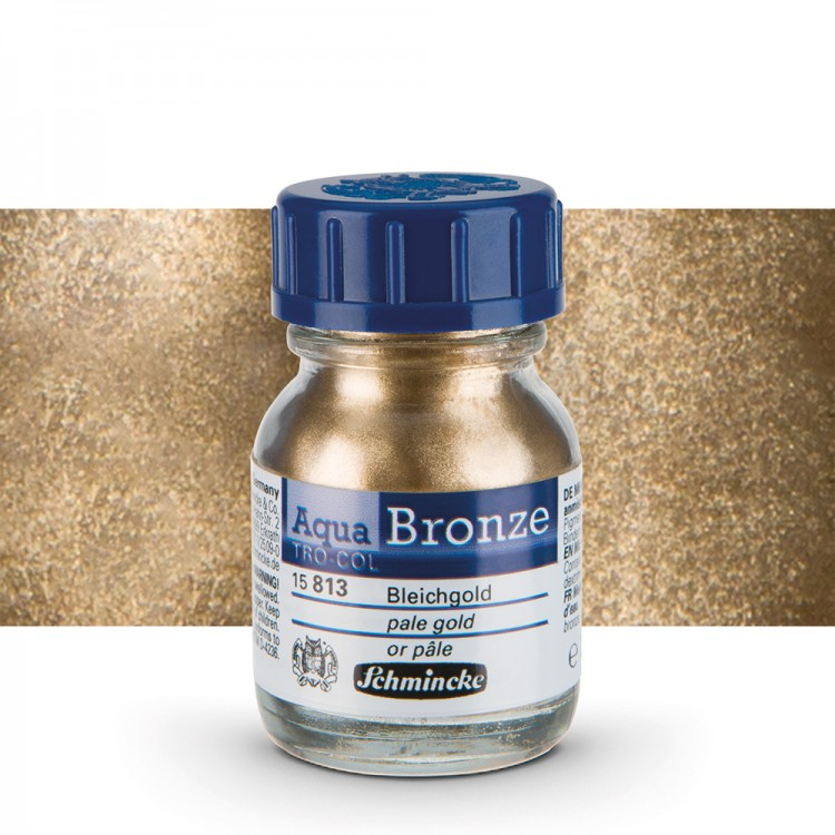 Schmincke : Aqua Bronze Powder : 20ml : Pale Gold : By Road Parcel Only