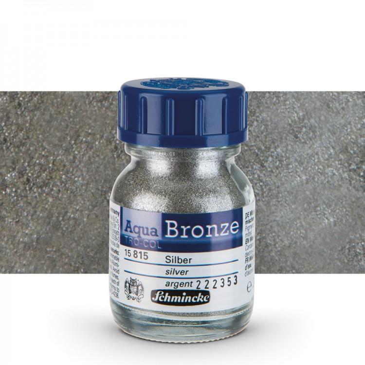 Schmincke : Aqua Bronze Powder : 20ml : Silver : By Road Parcel Only