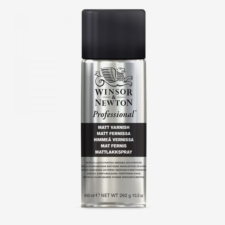 Winsor & Newton : Artists Picture Varnish Spray : 400ml : Matt : By Road Parcel Only