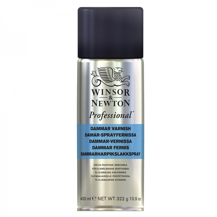 Winsor & Newton : Artists Varnish Spray Dammar : By Road Parcel Only : 400ml : By Road Parcel Only