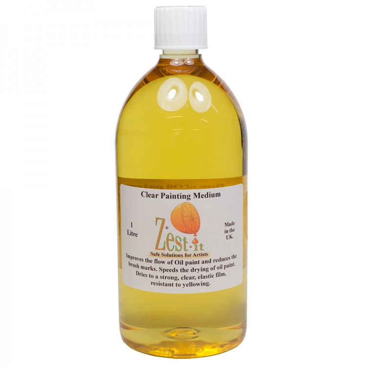 Zest It : Clear Painting Medium : 1000ml : By Road Parcel Only