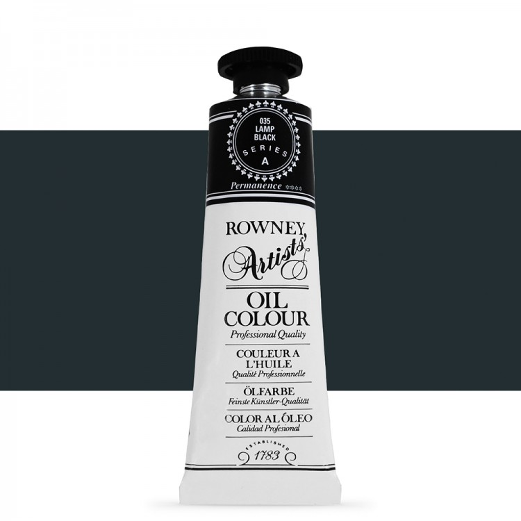 Daler Rowney : Artists' Oil Paint : 38ml : Lamp Black