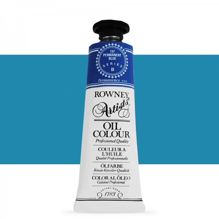 Daler Rowney : Artists' Oil Paint : 38ml : Permanent Blue