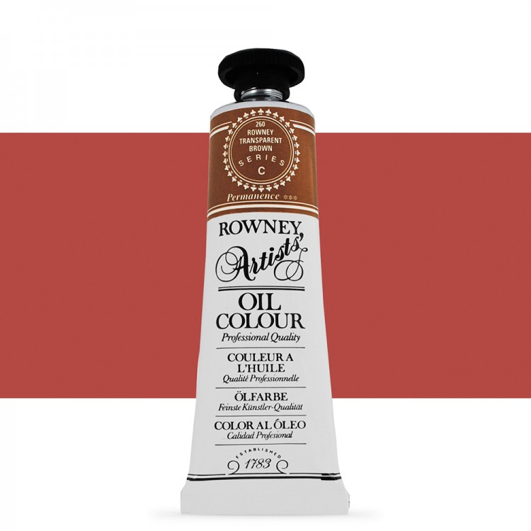 Daler Rowney : Artists' Oil Paint : 38ml : Rowney : Transparent Brown