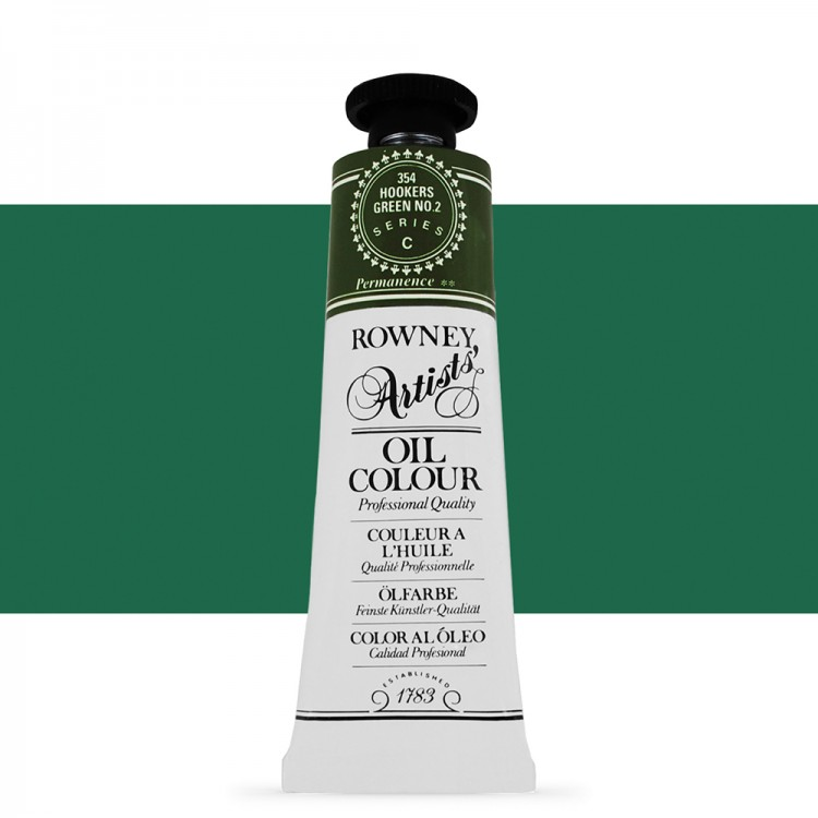 Daler Rowney : Artists' Oil Paint : 38ml : Hookers Green No. 2