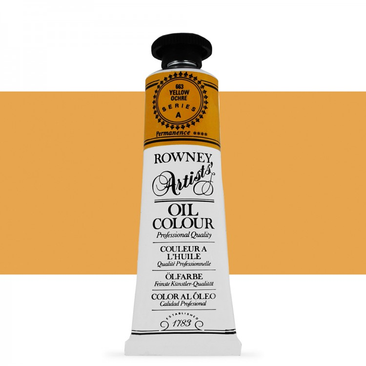 Daler Rowney : Artists' Oil Paint : 38ml : Yellow Ochre