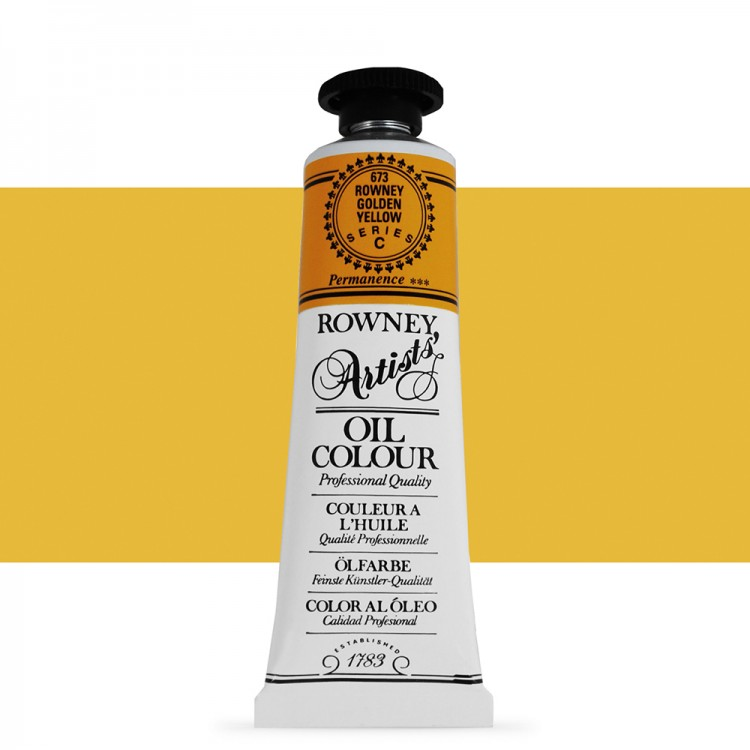 Daler Rowney : Artists' Oil Paint : 38ml : Rowney : Golden Yellow