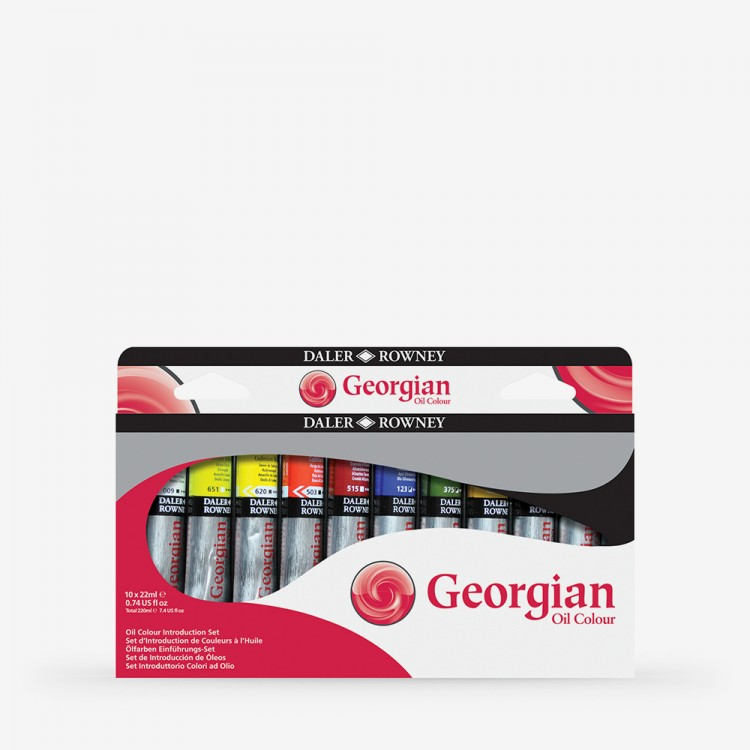 Daler Rowney : Georgian Oil Paint : Introductory Set : 22ml : Set Of 10