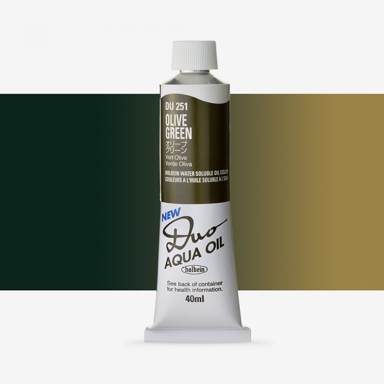 Holbein Duo-Aqua : Olive Green : 40ml tube