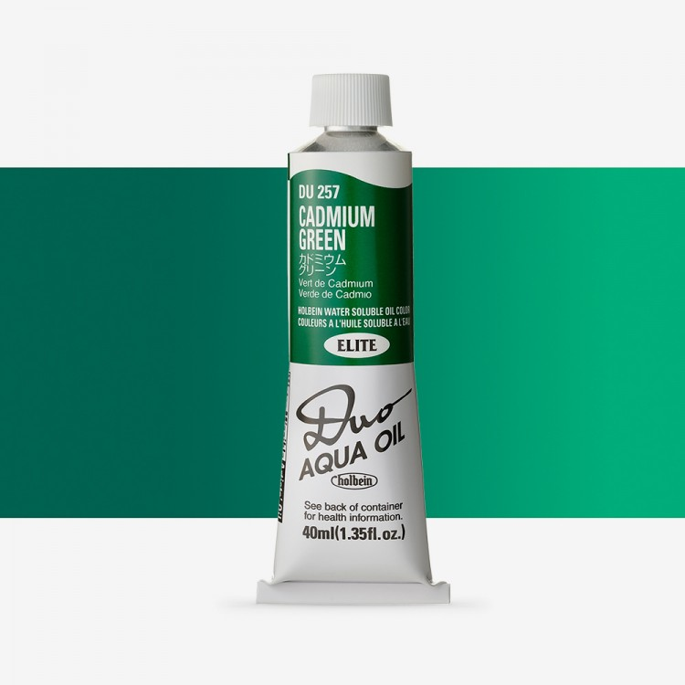 Holbein Duo-Aqua : Cadmium Green : 40ml tube