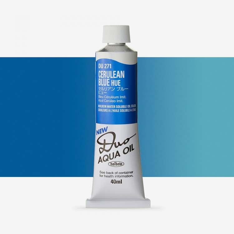 Holbein Duo-Aqua : Cerulean Blue Hue : 40ml tube