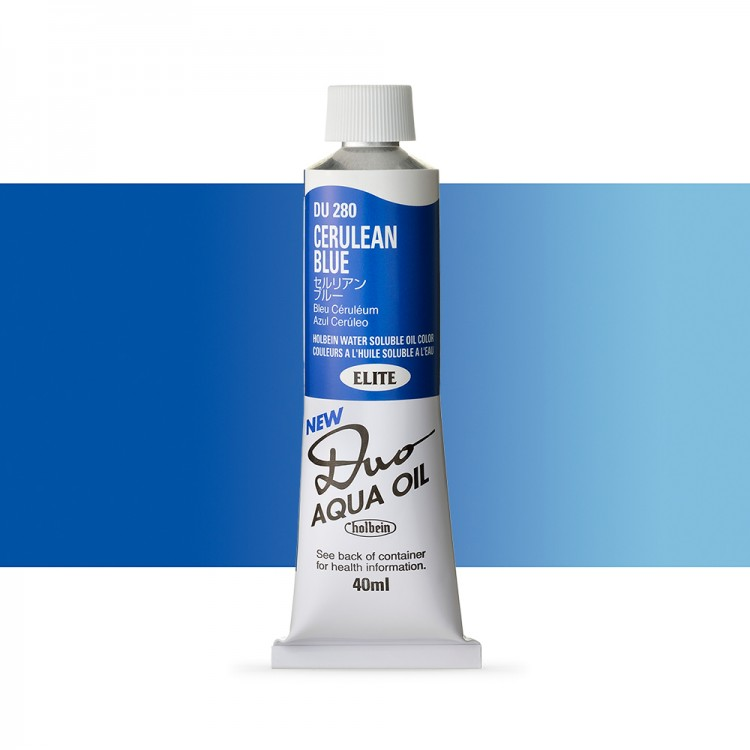 Holbein Duo-Aqua : Cerulean Blue : 40ml tube