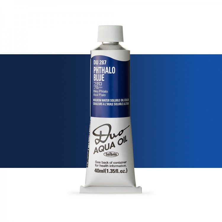 Holbein Duo-Aqua : Phthalo Blue : 40ml tube