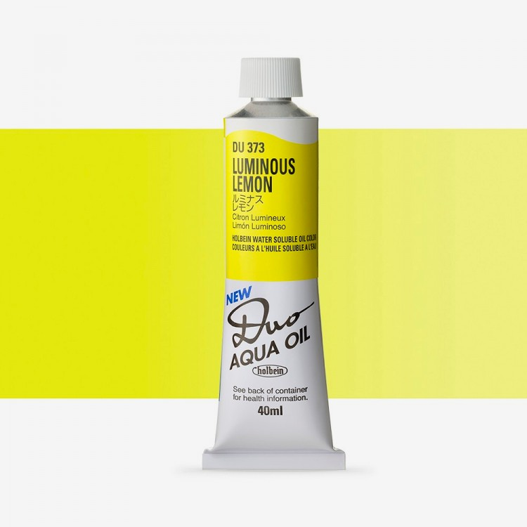 Holbein Duo-Aqua : Luminous Lemon : 40ml tube