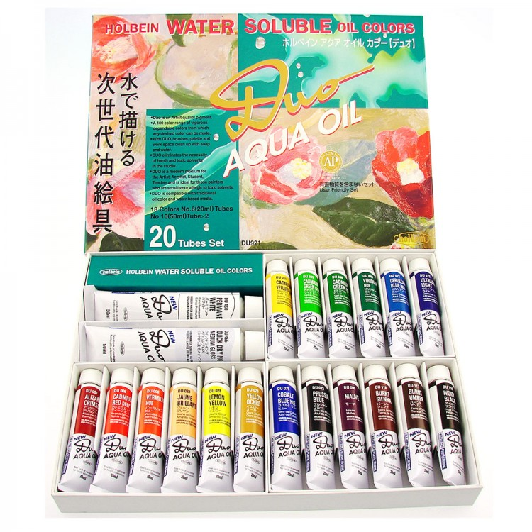 Holbein Duo-Aqua : Set of 20 x 20ml Colours
