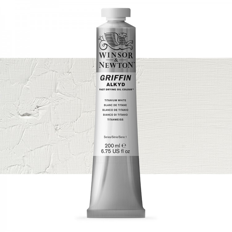 Griffin Alkyd Oil Paint : 200ml : Titanium White