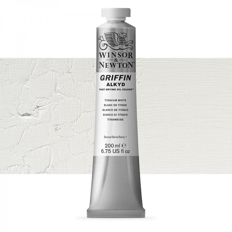 Griffin Alkyd Oil Paint : 200ml : Titanium White