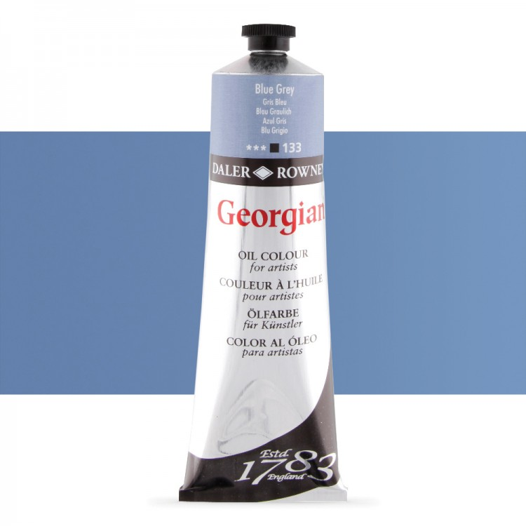 Daler Rowney : Georgian Oil Paint : 225ml : Blue Grey