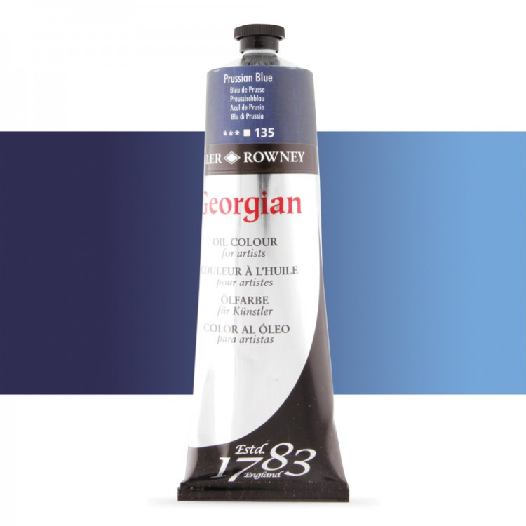 Daler Rowney : Georgian Oil Paint : 225ml : Prussian Blue