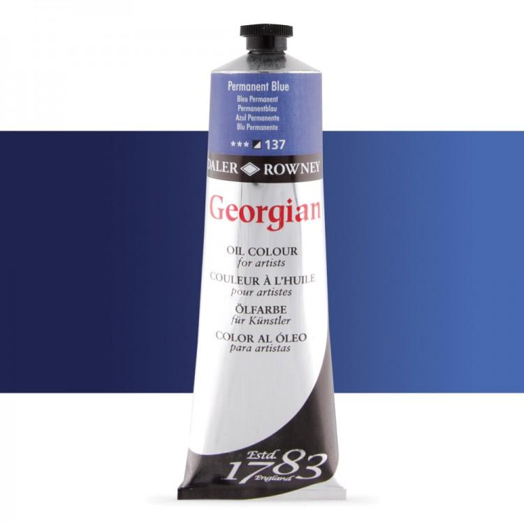 Daler Rowney : Georgian Oil Paint : 225ml : Permanent Blue