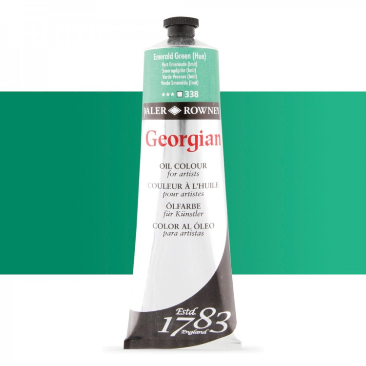 Daler Rowney : Georgian Oil Paint : 225ml : Emerald Green