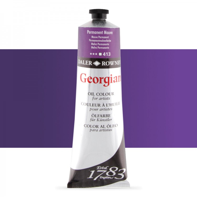 Daler Rowney : Georgian Oil Paint : 225ml : Permanent Mauve