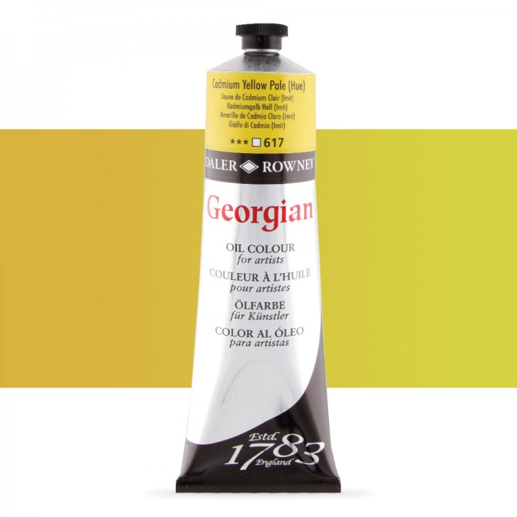 Daler Rowney : Georgian Oil Paint : 225ml : Cadmium Yellow Pale Hue