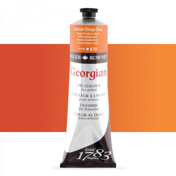 Daler Rowney : Georgian Oil Paint : 225ml : Cadmium Orange Hue