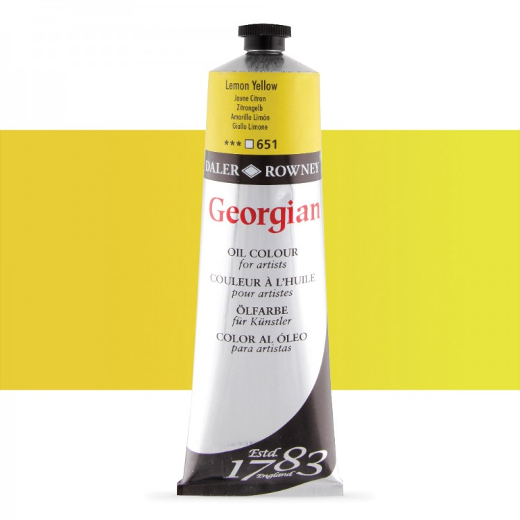 Daler Rowney : Georgian Oil Paint : 225ml : Lemon Yellow