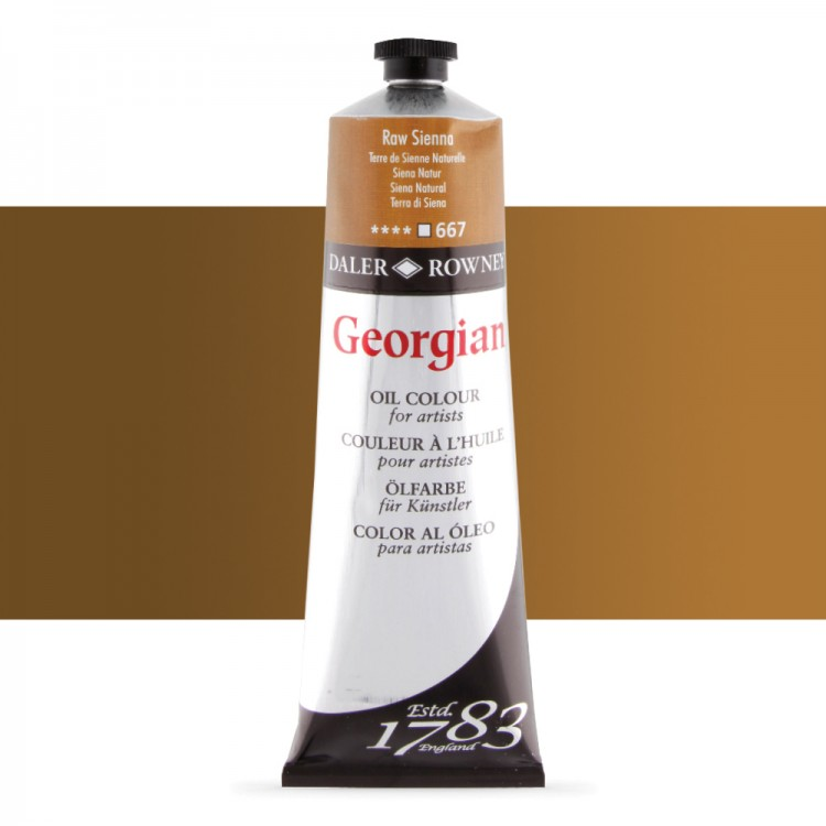 Daler Rowney : Georgian Oil Paint : 225ml : Raw Sienna
