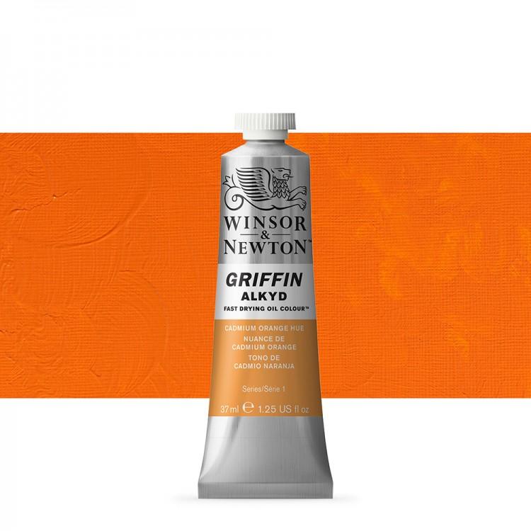 Winsor & Newton : Grffin : Alkyd Oil Paint : 37ml : Cadmium Orange