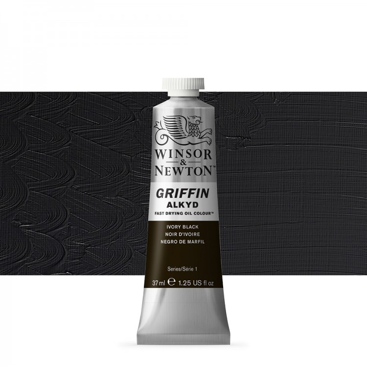 Griffin Alkyd Oil Paint : 37ml : Ivory Black