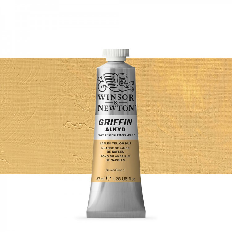 Winsor & Newton : Grffin : Alkyd Oil Paint : 37ml : Naples Yellow Hue