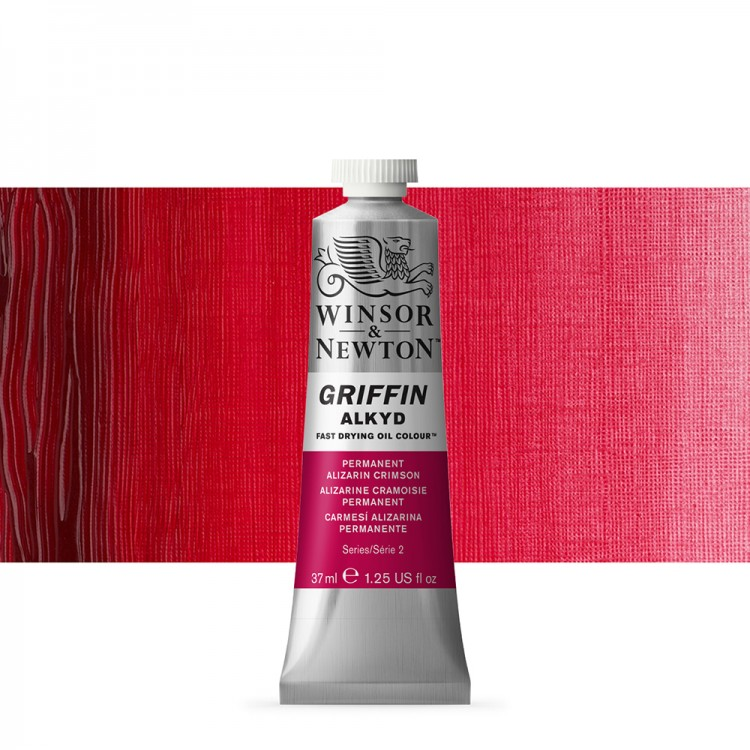 Griffin Alkyd Oil Paint : 37ml : Perm Alizarin Crimson