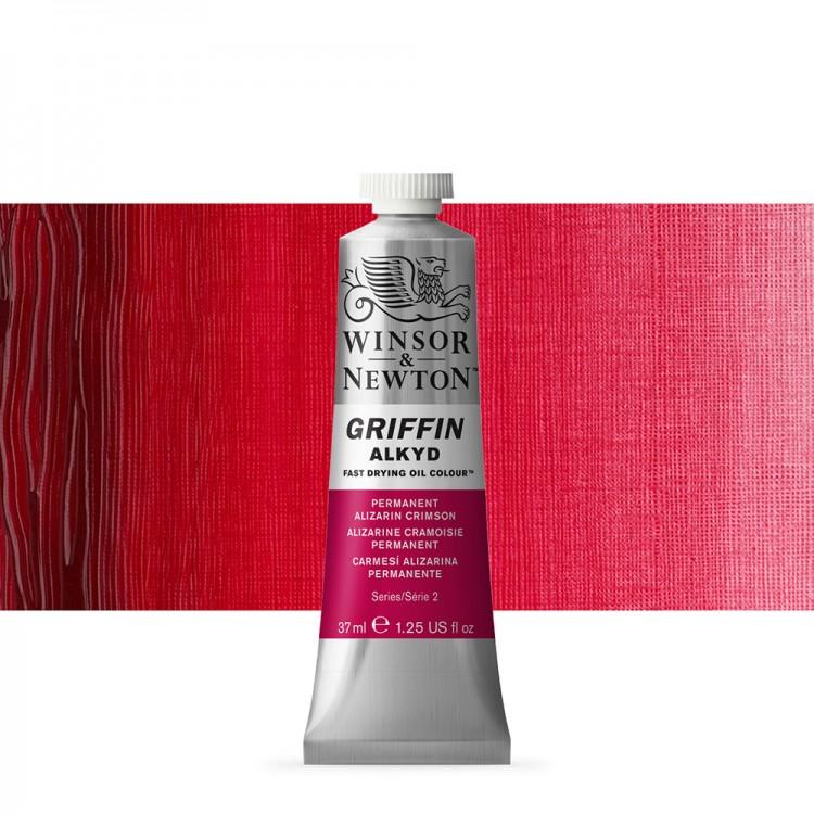 Griffin Alkyd Oil Paint : 37ml : Perm Alizarin Crimson