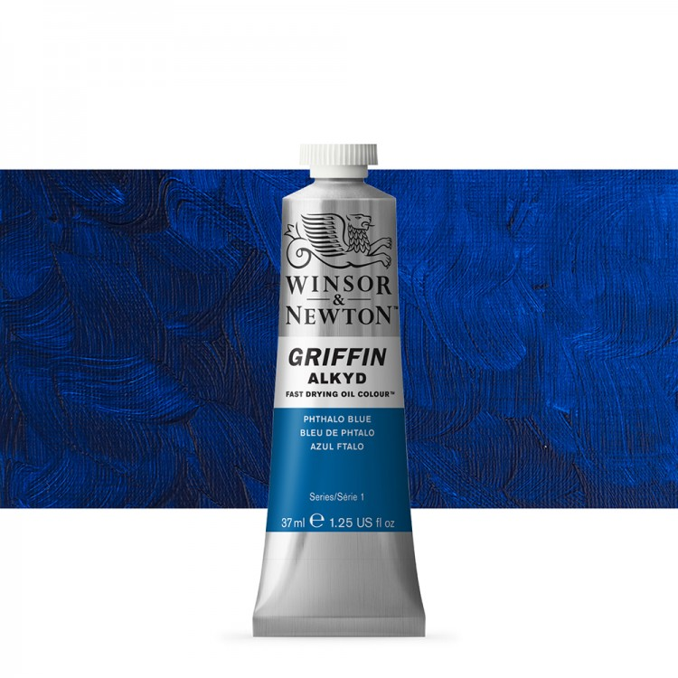 Griffin Alkyd Oil Paint : 37ml : Phthalo Blue