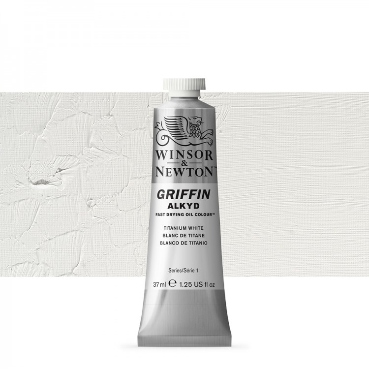 Griffin Alkyd Oil Paint : 37ml : Titanium White