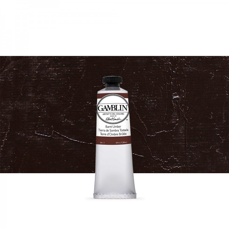 Gamblin : Artist Oil Paint : 37ml : Burnt Umber