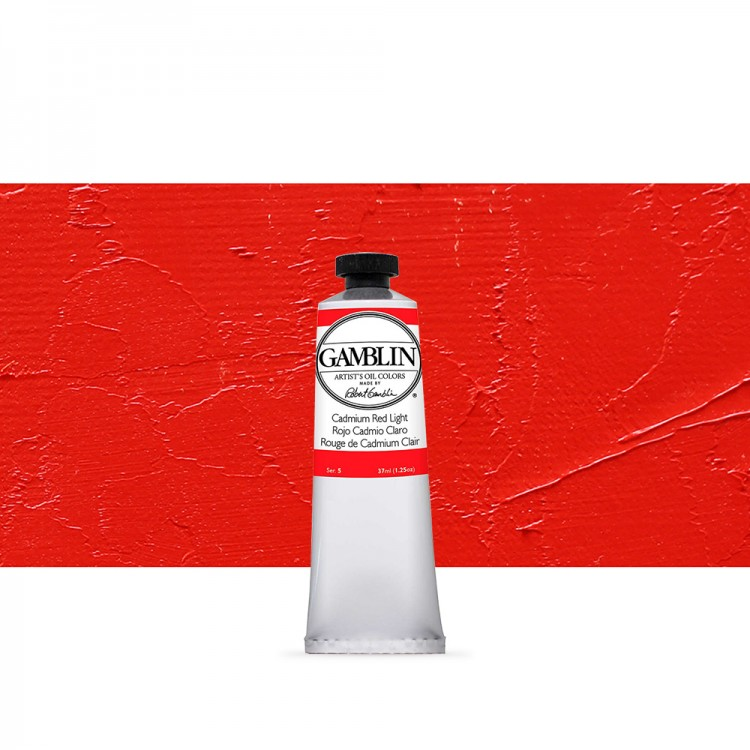Gamblin : Artist Oil Paint : 37ml : Cadmium Red Light