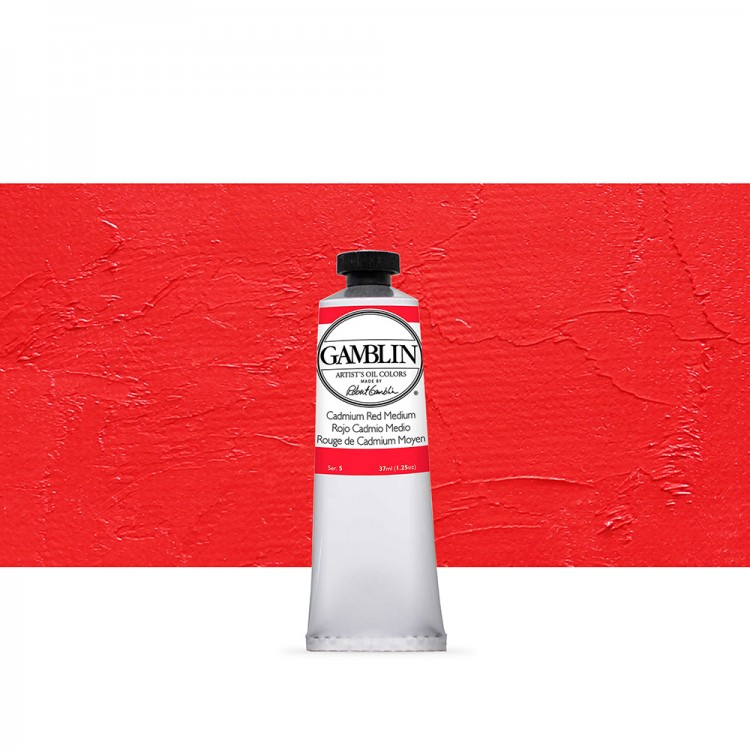 Gamblin : Artist Oil Paint : 37ml : Cadmium Red Medium