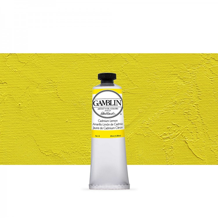 Gamblin : Artist Oil Paint : 37ml : Cadmium Lemon