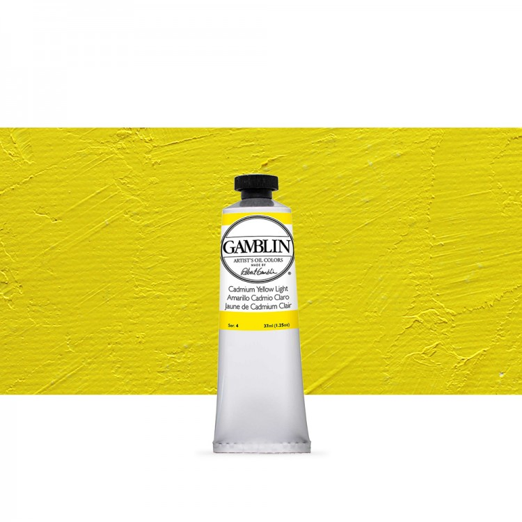 Gamblin : Artist Oil Paint : 37ml : Cadmium Yellow Light