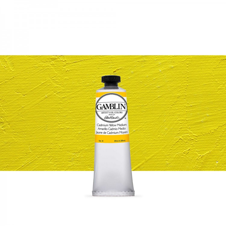 Gamblin : Artist Oil Paint 37ml : Cadmium Yellow Medium