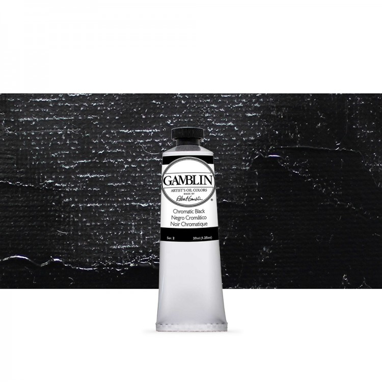Gamblin : Artist Oil Paint 37ml : Chromatic Black